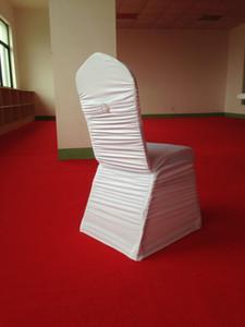 100 ADET Ücretsiz Kargo Düz Pileli Spandex Streç Sandalye Kapak Bant ile Geri Düğün Dekorasyon Ziyafet için
