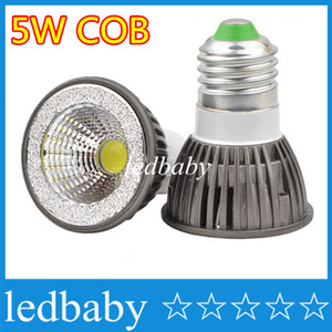 Лучшая цена COB 5W Светодиодный светильник GU10 E27 E26 MR16 Светодиодные прожекторы с регулируемой яркостью теплый / холодный белый 110-240 В 12 В + CE ROHS Утверждено