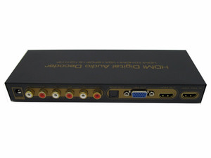 Freeshipping H-D-MI Digital Audio Decoder H-D-MI to H-D-MI   VGA   SPDIF   5.1 Surround Sound Converter Adapter