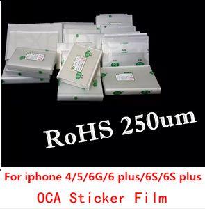 Mitsubishi 250um OCA Tutkal için iphone 4 4 s 5 5 s 5c 6 6 s 6 artı LCD Dokunmatik Ekran Cam Optik OCA Sticker Film