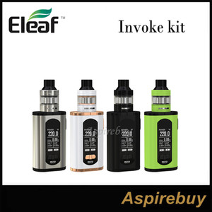 Eleaf Invoke Kit 220W Invoke Box Mod with 2ML ELLO T Atomizer Limitless Vaping with Centered 510 with HW Coils 100% Original