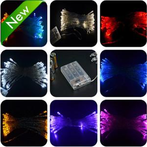 도매 배터리 운영 멀티 컬러 3M 30 LED의 요정 빛 문자열 결혼식 파티 크리스마스 파티 장식 무료 배송 10 개 / 많은