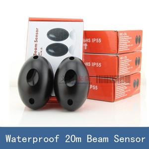 1 çift Yeni Su Geçirmez 20 m Aktif Fotoelektrik Tek Işın Kızılötesi Sensör Bariyer Dedektörü için Kapı Kapı Pencere, ABO-20