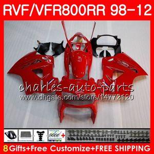 VFR800 para HONDA Interceptor Factory red VFR800RR 98 99 00 01 02 03 04 12 90NO40 VFR 800 RR 1998 1999 2000 2001 2002 2003 2004 2012 Carenado