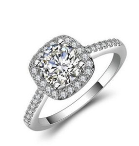 4CT Cushion-Cut Lad Delicated Diamond Solitaire Engagement Ring 14k White Gold Fill Over