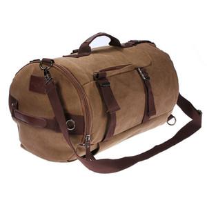 46 cm x 27 cm x 27 cm kaffee große kapazität mann reisetasche outdoor bergsteigen rucksack wandern camping leinwand eimer umhängetasche