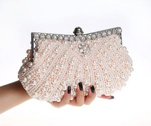 2017 handgemachte hohe qualität Perfekte frauen Perle Bogen Satin Strass clutch taschen handtasche abendtasche bankett Taschen