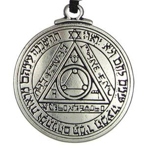 Neue Punk Amulett Anhänger Halskette Sonne Talisman Key of Solomon Seal Anhänger Halskette hermetische Enochian Kabbalah Pagan Wiccan Schmuck