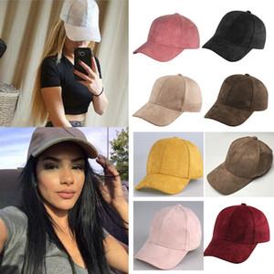 Mujeres Hombres Gorras de béisbol Sombreros Hip-hop Snapback Sombreros Planos Nueva Gamuza Color Caramelo Sol Sombreros de Baloncesto Gorras Regalos 9 Colores HH-H04
