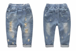 Girls Children For Baby Jeans Pants Shorts Kids Denim Ripped Clothing INS Boys Denim Jeans Pants Fashion Brand Slim Casual Children Wvlxf