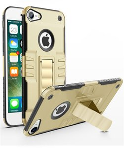 Kickstand Case Hybrid Доспех Case TPU + PC Shell назад чехол для iPhone 7 6S 6 Plus 5 5S SE Sumsung S7 S8 Plus Пограничный G530