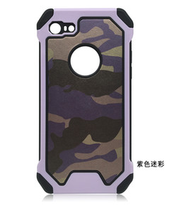 200pcs Fashion Military Army Camo Camouflage Case Fundas for iphone 7 plus 5.5 inch Armor Case Dual PC + Silicone Phone Cover Shell