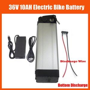 Batteria ricaricabile per bicicletta elettrica 36V 10Ah 36 V 10Ah argento Scooter Batteria al litio con caricabatterie da 42 V 2A e scarica inferiore BMS BMS e 15A
