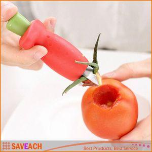 2016 حار جديد إمدادات المنزل الجدة أحمر اللون الفراولة الطماطم الأوراق يترك huller مزيل شحن مجاني