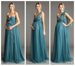 Maternity Bridesmaids Dress Convertible Backless Empire A Line Bridesmaid Gowns Women Formal Brides Maid Dresses Long Tulle