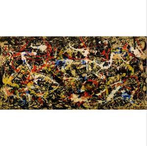 Pittura a olio dipinta a mano pura di arte di Graffiti incorniciata Jackson Pollock, arte della parete della casa Decro su tela spessa di alta qualità Multi formati