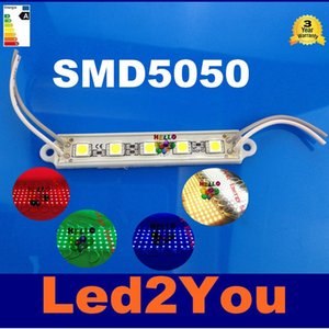 5050 SMD 5LEDs LED Modül Beyaz / Sıcak Beyaz / Kırmızı / Yeşil / Mavi Su geçirmez Işık Reklam lamba DC 12V Toptan