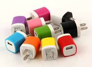 100pcs colorato 1A spina degli Stati Uniti adattatore di corrente alternata casa caricatore singola porta caricatore USB per iPhone 8 7 6 5 colori spedizione gratuita