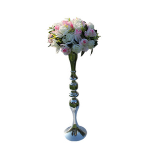 New arrival 3 Color 73cm height metal candle holder candle stand wedding centerpiece event road lead flower rack 10 pcs  lot