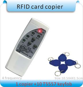 Handheld 4frequency (125/250/375 / 500KHZ) 125Khz EM4100 RFID copiatrice / scrittore / duplicatore (/ EM4200) + 50pcs portachiavi scrivibili