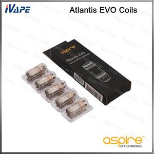 Aspire Atlantis EVO Bobinas Cabeças 100% Original Aspire Atlantis EVO Substituição Cabeças Atomizador Clapton Bobinas 0.4ohm 0.5ohm