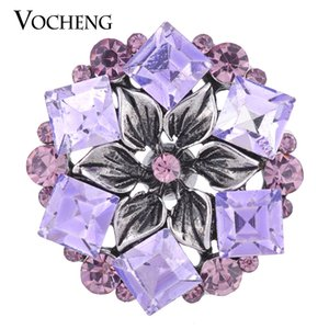 NOOSA 18mm Interchangeable Button Blossom Bling Ginger Snap 3 Colors Crystal Button VOCHENG Vn-1080