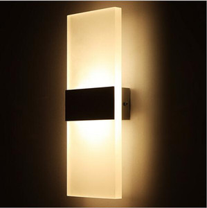 Moderno Acrílico Apliques de pared de LED Luces de pared de abajo Abajo Lámpara de cabecera para cocina Restaurante Salón Dormitorio Sala de estar Lámpara Lámpara de baño Led