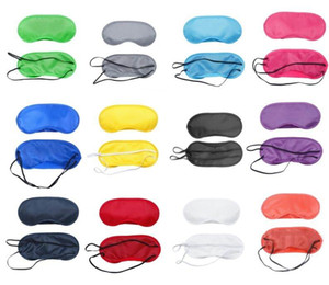 Voyage Relax Eye Mask Sleeping satin doux yeux ombre Blindfold Nap Couverture souple Blindfold Sleeping Eye Masque Shade Couverture