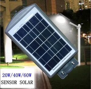 20W 40W 60W Outdoor Garden Park Road Path Waterproof Solar Power LED Street Light Lamp LLFA
