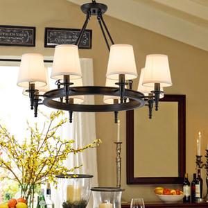 Pingente de iluminação Americano Country Sala de luzes de ferro forjado iluminação do ferro Simples Sala de Jantar Sala de Jantar Quarto de Estudo