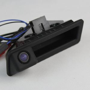 لسيارات BMW 3 E90 E91 E92 E93 / 320i 335i كاميرا الرؤية الخلفية للسيارة / كاميرا احتياطية للخلف / HD CCD RCA NTST PAL Trunk Handle OEM