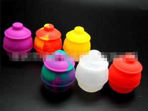 Couleur riche Honeybee cire anti-adhésif silicone Container Jar Silicone 35ml couleurs multiples électronique de cigarette électrique Pipe
