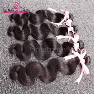 9a Weave a buon mercato 3 pz / lot all'ingrosso di alta qualità capelli umani body wave del corpo indiano capelli 9a premium qualità premium fasci di capelli vergini per Greatremy®
