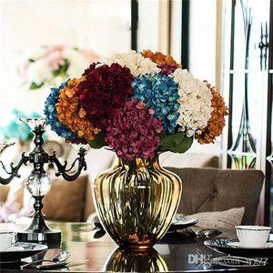 The Simulation Flower All'ingrosso Boutique di lusso Zadeh Fusion As Simulation Hydrangea Flower Household Adornment Fiore di seta artificiale Bouq