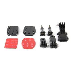 Accesorios para la cámara de acción Conjunto de casco Kit de montaje frontal con soporte adhesivo curvo J-Hook Buckle