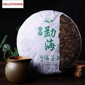 Préférence 357g Yunnan Menghai Classique Puer Tea Cake Raw Puer Tea Organic Natural Pu'er plus ancien arbre Green Puer Tea Factory Ventes directes