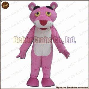 Costume de mascotte de panthère rose EMS livraison gratuite, carnaval de haute qualité pas cher fête fantaisie en peluche marche panthère rose mascotte taille adulte.
