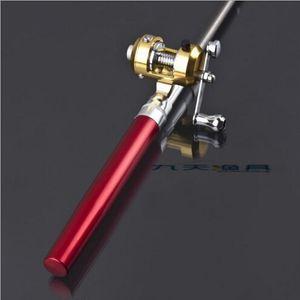 Balık El Balıkçılık Deniz Rod kalem Ekipmanları Aksesuarı Mücadele Spinning karbon 1m Taşınabilir seyahat macera Teleskopik Balıkçılık Rod