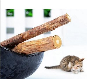 Brinquedos de madeira Catnip Silvervine Dentes Varas Gatos Saúde Dental Varas Animais de Estimação Catnip ProductsCats Snacks Cats Favor Suprimentos