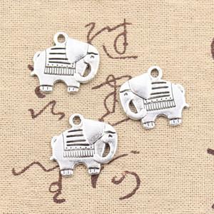 80 adet Charms fil 19 * 20mm Antik Yapma kolye fit, Vintage Tibet Gümüş, DIY bilezik kolye