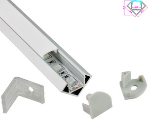 10X0.5M Угол 30 градусов Светодиодный алюминиевый профиль и V-образный канал для экструзии светодиодных лент smd5050,5630,3528