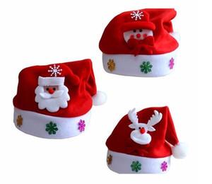 어린이 환호 크리스마스 모자 어린이 산타 클로스 순록 눈사람 파티 귀여운 모자 크리스마스 선물 웨딩 장식