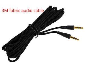 New Woven Universal Long 3m 5m 7m Noir 3.5mm audio jack mâle à 3.5mm audio mâle stéréo câble cordon pour mp3 ipod haut-parleur audio accès