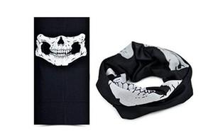 Cool Skull Bandana Vélo Casque Cou Visage Masque Paintball Ski Sport Bandeau Nouveau Mode Demi Visage Masque Parti Fournitures