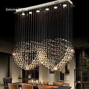 Novo projeto de venda Hot Luxury Retângulo Chandelier espiral de cristal do teto Luz para Escadas com GU10LED Lâmpadas