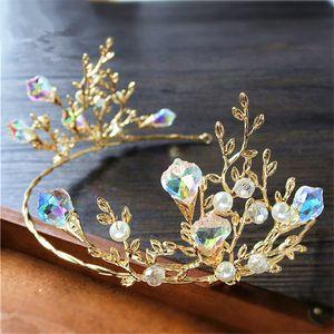 Corona da sposa vintage diadema corona copricapo di cristallo strass accessori per capelli principessa gioielli moda regina gioielli in oro