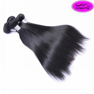 Braderie!!! 3pcs Per Lot de Extensions de Cheveux Humains Malaisiens Naturel Noir Soie Droite Armure de Cheveux Humains