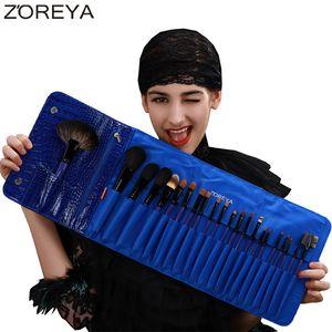 Zoreya Brand 22pcs Sable Hair Professional Brush Brush مجموعة فرش المكياج عالية الجودة