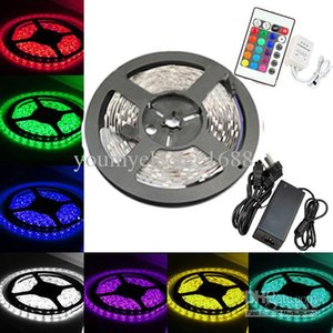 5m 5050 SMD RGB LED Light Strip 5M 150led + Impermeabile + Telecomando IR + Alimentazione (30led / m) Festivall umlight1688