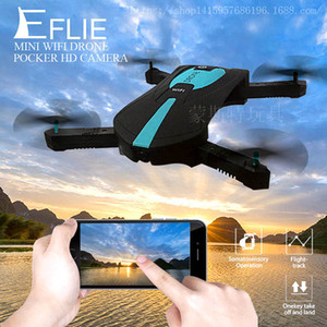 2.4G Mini RC Drone 0.3MP HD Fotocamera Portatile Pieghevole Tasca Selfie Pieghevole Quadcopter Altitudine Tenere senza testa WIFI FPV RC Helicopter JY018